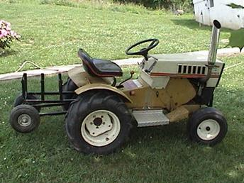 Antique Tractors 1968 Sears Pulling Garden Tractor Picture